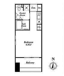 クレジデンス神谷町(旧:神谷町デュープレックスC's)[803号室]の間取り