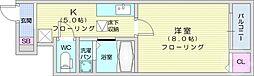 仙台市地下鉄東西線 青葉通一番町駅 徒歩15分の賃貸アパート 1階1Kの間取り