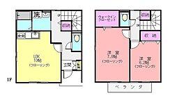[テラスハウス] 神奈川県横浜市青葉区市ケ尾町 の賃貸【/】の間取り