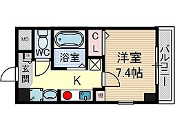 クオーレ茨木元町[11階]の間取り