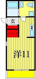 千葉県習志野市藤崎3丁目の賃貸マンションの間取り