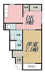 千葉県千葉市中央区都町3丁目の賃貸アパートの間取り