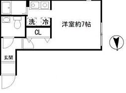 モデュロール中野新橋[203号室号室]の間取り