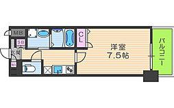アーバンパーク梅田ウエスト 14階1Kの間取り
