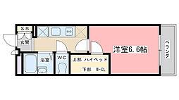レオパレスファーデン西金ヶ崎[310号室]の間取り