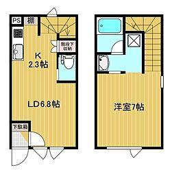仮)北斗町新築3戸AP 1階1LDKの間取り