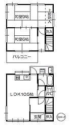 [一戸建] 広島県広島市佐伯区八幡2丁目 の賃貸【/】の間取り
