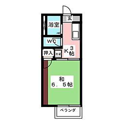 旭ハイム[2階]の間取り