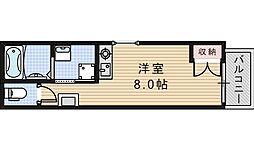 プライムタワー阿倍野40[2階]の間取り