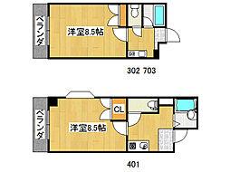 コンフォート布施[4階]の間取り