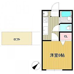 サニーライフ苦竹[1階]の間取り