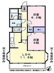 シャトー秋葉町(シャトーアキバチョウ)[2階]の間取り