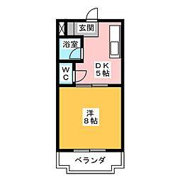 マンションラッフルズ[4階]の間取り