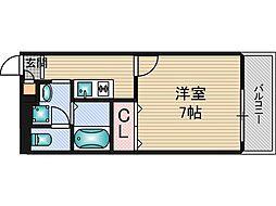アンプルールフェールドミール[3階]の間取り