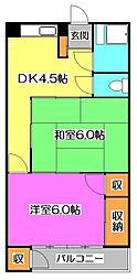 山栄マンション[2階]の間取り