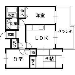 オーナーズマンション若江[5階]の間取り