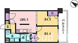 コンダクト福岡東[2階]の間取り