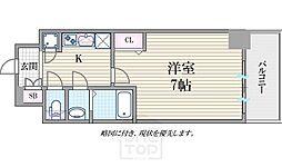 レジュールアッシュ難波MINAMI2[4階]の間取り