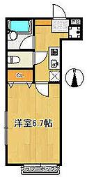 グランシャレー神谷[1階]の間取り