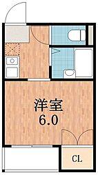 セラ天王寺[6階]の間取り