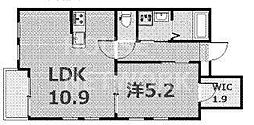 ラバンクール銀閣寺[203号室号室]の間取り