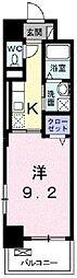JR宇野線 備前西市駅 徒歩33分の賃貸マンション 6階1Kの間取り