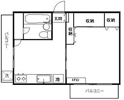 東京都板橋区舟渡2丁目の賃貸マンションの間取り