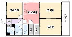 東今宿中村コーポII[5階]の間取り