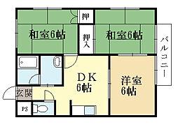 プレザント88[2階]の間取り