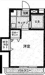 グローバルニシキ[3階]の間取り