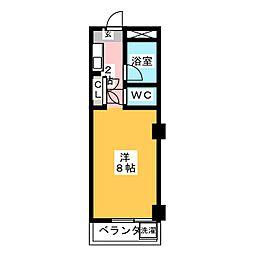 マンション八幡[3階]の間取り