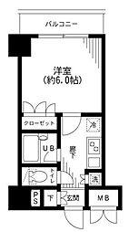 ケーディーエックスレジデンス日本橋箱崎町[2階]の間取り
