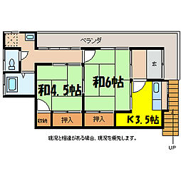 水上アパート[2階]の間取り