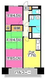 東京都小平市栄町1丁目の賃貸マンションの間取り