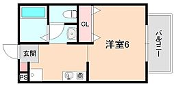 メゾンソレイユ岡町[2階]の間取り