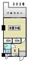 福岡県北九州市小倉南区日の出町1丁目の賃貸マンションの間取り