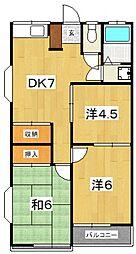 フジミハイツA[203号室号室]の間取り