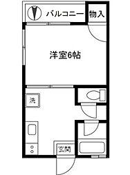 神奈川県川崎市中原区今井西町の賃貸アパートの間取り