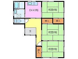 [一戸建] 三重県松阪市嬉野中川町 の賃貸【/】の間取り