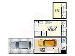 名古屋市営名港線 日比野駅 徒歩18分の賃貸アパート 1階1SLDKの間取り