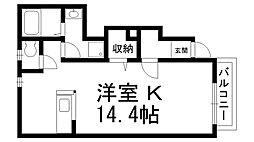 セイバリーホーム[0102号室]の間取り