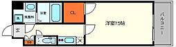 セレーノ大阪ウエストベイ 4階1Kの間取り