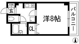 マサーレ川西[3階]の間取り