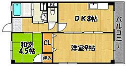 兵庫県神戸市西区王塚台7丁目の賃貸マンションの間取り