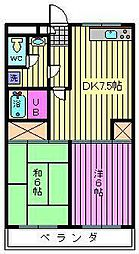 リファインドマンションK[3階]の間取り