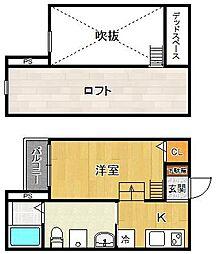 フルハウス尼崎[102号室]の間取り