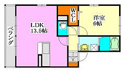 ルッコラ[105号室]の間取り