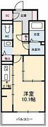JR高徳線 栗林公園北口駅 徒歩6分の賃貸マンション 8階1Kの間取り