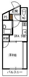 C&C三宅[206号室]の間取り