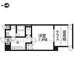 ベラジオ五条堀川III101[1階]の間取り